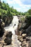 Высокие падения ущелье, Уилмингтон, Нью-Йорк, Соединенные Штаты стоковая фотография rf
