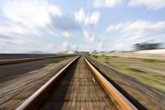 высокие следы скорости рельса Стоковые Фото