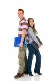 высокие студенты школы влюбленности предназначенные для подростков Стоковое фото RF