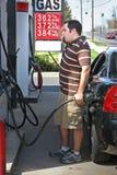 высокие цены газа стоковое изображение