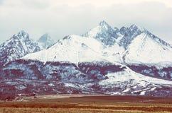 высокие lomnicky пиковые tatras Словакии стоковые изображения rf