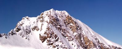 Высокий вечер горного пика Стоковое Изображение RF