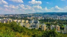 Высокий взгляд города Cluj Napoca в Румынии Стоковые Фотографии RF