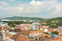 Высокий взгляд города Cluj Napoca Стоковое Изображение