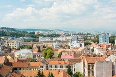 Высокий взгляд города Cluj Napoca Стоковая Фотография RF