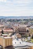 Высокий взгляд города Cluj Napoca Стоковое фото RF
