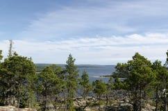Высокий взгляд побережья Стоковое Фото