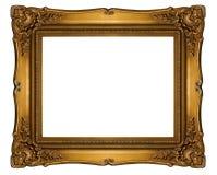 Высокий вырез рамки стиля барокко разрешения на белизне изолировал острословие Стоковые Фото