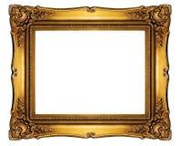 Высокий вырез рамки стиля барокко разрешения на белизне изолировал острословие Стоковое Изображение