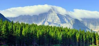 Высокий высокогорный ландшафт на следе ледника Grinnell, национальный парк ледника, Монтана Стоковое фото RF