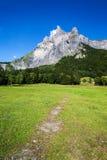 Высокий горный пик стоковое фото