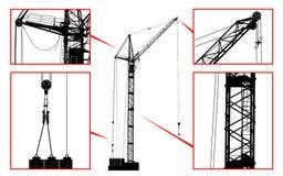 Высокий детальный вектор поднимая кран Стоковое фото RF