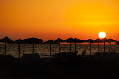 высокий заход солнца моря разрешения jpg Стоковые Изображения RF
