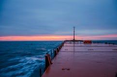 высокий заход солнца моря разрешения jpg Стоковая Фотография RF