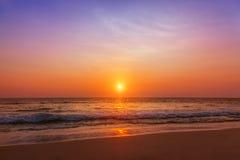 высокий заход солнца моря разрешения jpg Стоковое Изображение