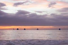 высокий заход солнца моря разрешения jpg стоковые изображения