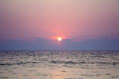 высокий заход солнца моря разрешения jpg Стоковые Фото