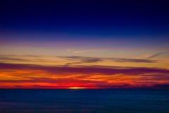 высокий заход солнца моря разрешения jpg Стоковое Фото