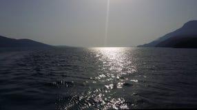высокий заход солнца моря разрешения jpg Стоковое Изображение RF
