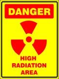 высокий знак радиации Стоковые Изображения RF