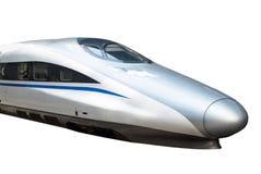 высокий изолированный поезд скорости Стоковое Изображение