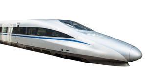 высокий изолированный поезд скорости Стоковая Фотография RF