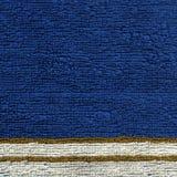 Текстура ткани полотенца - синь с нашивками Стоковая Фотография RF