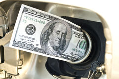Высокий конец съемки газовых цен вверх Стоковое Фото