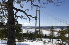 Высокий мост побережья Стоковая Фотография RF