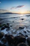 высокий прилив захода солнца Стоковые Изображения RF