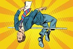 Высокий прыжок бизнесмена иллюстрация штока