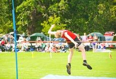 высокий прыжок конкуренции Стоковое фото RF