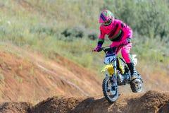 Высокий прыжок Motocross Стоковые Фото