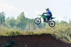 Высокий прыжок Motocross Стоковые Изображения