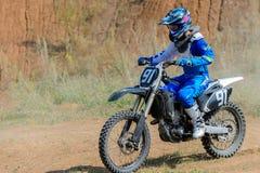 Высокий прыжок Motocross Стоковое фото RF