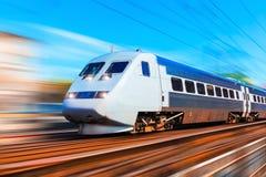 высокий самомоднейший поезд скорости Стоковая Фотография