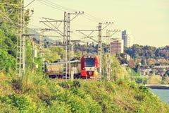 высокий самомоднейший поезд скорости Стоковое Изображение