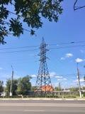 Высоковольтная линия электропередач Стоковые Изображения