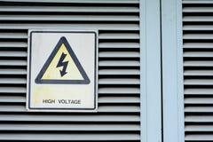 Высоковольтное предупреждение Стоковое Фото