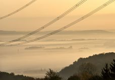 Высоковольтные линии Стоковые Фото