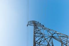Высоковольтные столб или башня высокого напряжения Стоковое Изображение