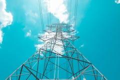 Высоковольтный электрический поляк стоковая фотография rf