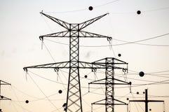 Высоковольтная башня передачи электроэнергии Стоковое Изображение RF