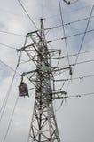 Высоковольтная башня передачи электроэнергии Стоковые Фотографии RF