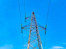 Высоковольтная башня передачи Стоковое Фото