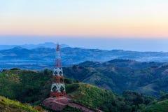 Высоковольтная башня стальной структуры Стоковые Фото
