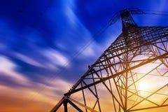 Высоковольтная башня Стоковые Изображения