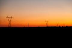 Высоковольтная башня Стоковое Фото
