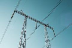 Высоковольтная башня стоковые фотографии rf