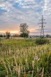 Высоковольтная линия электропередач Стоковая Фотография